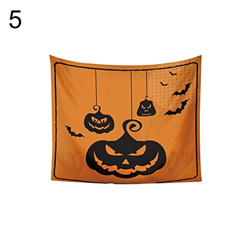 UanBO9wykh Halloween Theme(●_●), Pumpkin Series Tapestry Bedspread Wall Hanging Blanket Party Decor 5#