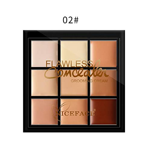 SAKAMU Concealer Foundation Primer Powder Spray Cream Makeup Palette,Makeup Concealer Trimming Cover Dark Circles Freckles Acne Cream Base BB Cream B