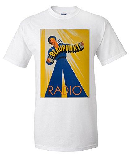 blaupunkt-radio-vintage-poster-c-1939-white-t-shirt-xx-large