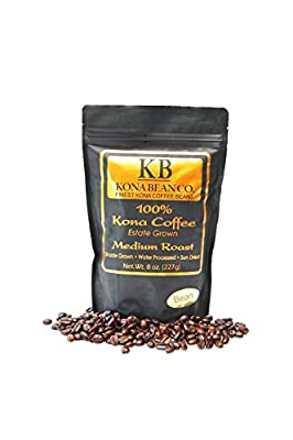 Kona Bean Co. 100% Kona Coffee Estate Grown - Medium Roast - Bean 8oz