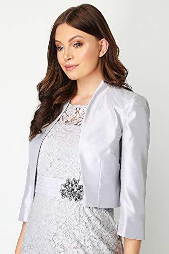 Style Ou Originals Femmes Occasions Silver Soirées Pour Veste Roman Soie Habillé Femme ¾ En Courte À Mariages Manches Spéciales aqvW5dA