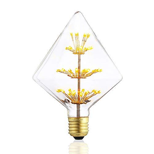 Vintage Edison LED Bulbs,Decorative Firework LED Bulbs Glass,Dimmable,Warm White 2200k, E26/E27 Base Antique Filament Bulb for ()
