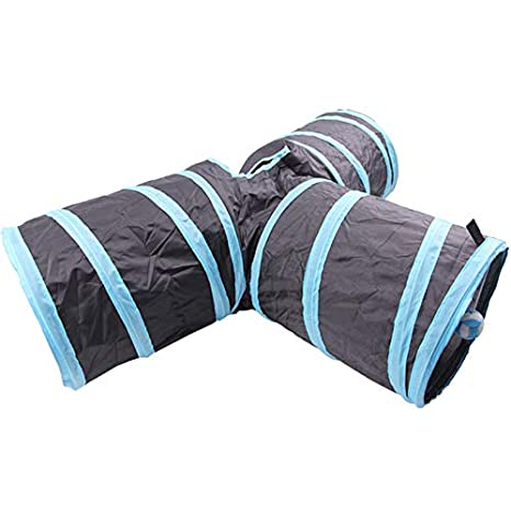 Cat Toys - Katten Tunnel Foldable Y Shape 3 Holes Gatos Pet Play Cat Toy Rabbit Toys Interactive - Teaser Natural Exercise Electronic Clearance Prey Spirals ...
