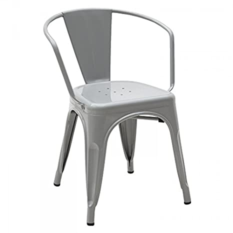 Sedia Metallo MetallizzatoAmazon In Moderno Colore Grigio Design 3qA5Rj4L