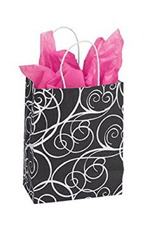 Medium Elegant Swirl Paper Shopping Bags - Case of 100 by STORE001