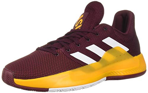 adidas Men's Pro Bounce Madness Low 2019, Maroon/White/Collegiate Burgundy, 12 M US