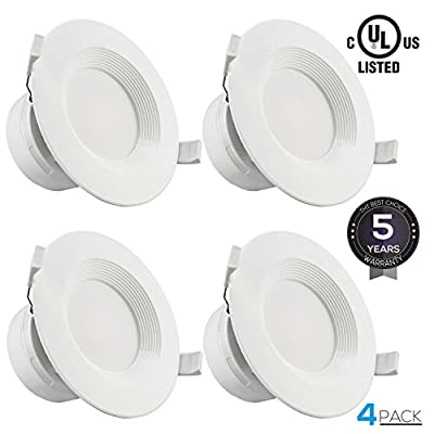 """4""""/6""""LED Recessed Downlight with Junction Box, Dimmable LED Ceiling Light Fixture, IC-Rated & Air Tight, Wet Location,UL-listed, 5 Years Warranty"""