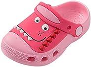 Voberry Toddler Boys Girls Dinosaur Garden Slippers, Kids Non-Slip Slides Sandals Slip-on Beach Pool Shower Sl