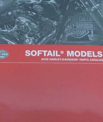 2009 Harley Davidson SOFTAIL SOFT TAILS MODELS Parts Catalog Manual Book NEW ()