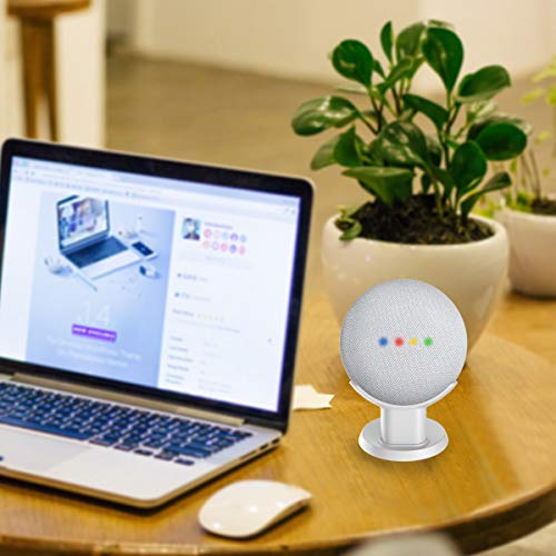 SPORTLINK Pedestal for Nest Mini (2nd Gen) and Google Home Mini Improves Sound Visibility and Appearance - A Must Have Nest Mini (2nd Gen)/ Google Home Mini Accessories(White)