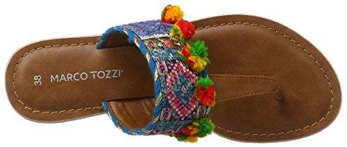 Marco Tozzi 27118, Sandalias para Mujer Turquesa (Turquoise Comb 797)