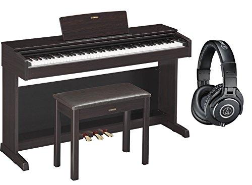 Yamaha YDP143R Arius Traditional Dark Rosewood Console Digital Piano w/ Bench and Headphones