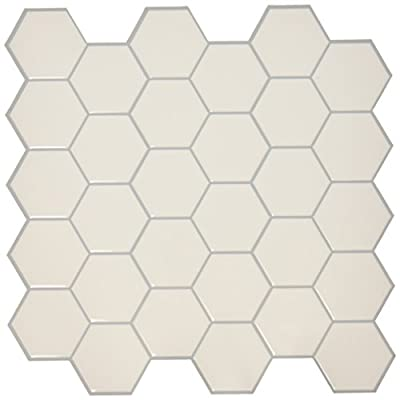 "RoomMates Pearl Hexagon StickTILES, 4-pack 10.5"" X 10.5"" from York Wallcoverings - Wall Decals"