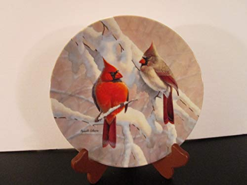 Artist, Russell Cobane W. S. George Cardinals on a Snowy Branch Decorative Plate