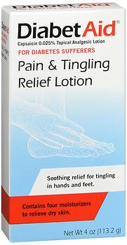 DiabetAid Pain and Tingling Relief Lotion, 4-Ounces