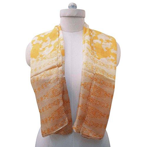 70 Envoltura Impreso de verano Bufandas borla Bufanda lunares seda de con amarillo larga usted Dise de x ador Sobre 20 pulgadas qS4aaz