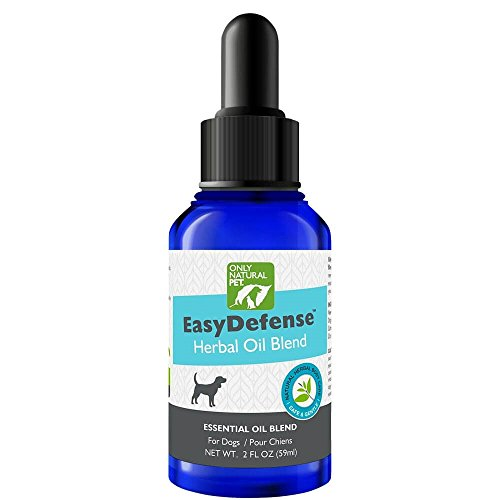 Parasite Control - Only Natural Pet EasyDefense Flea & Tick Control for Dogs - Topical Herbal Essential Oil Blend with Natural Lemongrass, Citronella, Lavender, and Cedar - 2 fl oz Bottle