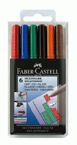Buy Faber Castell Non Permanent Medium Tip Multimark Wallet Of 6 Online At Low Prices In India Amazon In