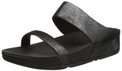 Black Lulu Slide Shimmersuede da Aperta Sandali Fitflop Donna 001 Punta a Nero S4CfqqvZ
