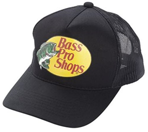 Bass Pro Shop Men's Trucker Hat Mesh Cap - One Size Fits All Snapback Closure - Great for Hunting & Fishing (Bass Pro Fishing Shop)