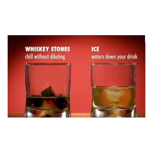 Whiskey Stones - Scotch Rocks, Reusable Chilling Rocks for Drinks - Keeps your Drink Cold, No Water Dilution, Premium Bar Accessories with Velvet Pouch and Wooden Gift Box - 9 Gray Soap Stones