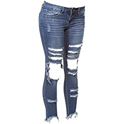 V.I.P. JEANS Women's Size 2-170009DBX-14, Medium Blue, 14 Plus