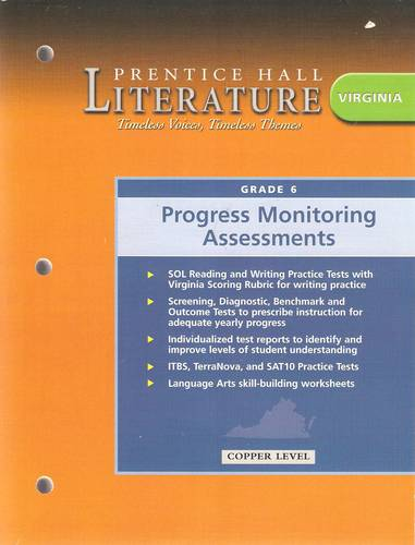 Download Prentice Hall Literature: Timeless Voices, Timeless Themes (Virginia Progress Monitoring Assessments, Copper Level 6) ebook