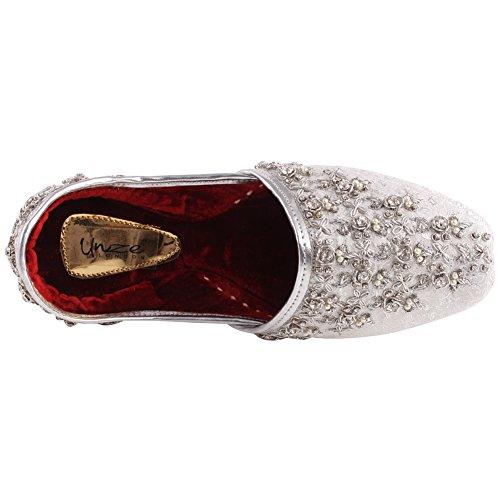 Uomini Punjabi Khussa 6 Cuoio Argento 11 Indiano Jutti Elvis UK Golden Dimensioni Unze Gli Flat Tradizionale g8A55w