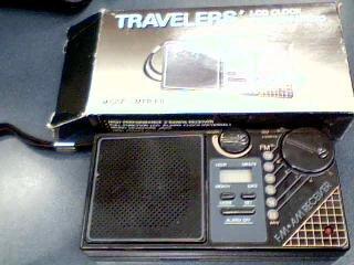 Travelers LCD Clock 2 Bands Radio Model. MFR-88 FM/AM Radio
