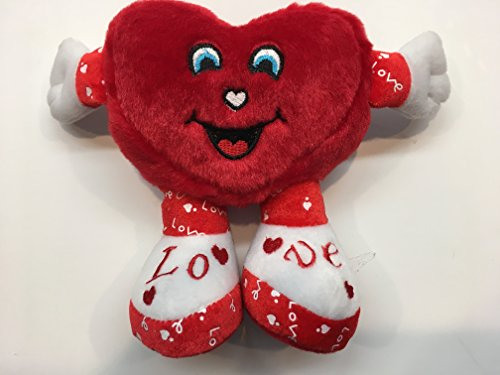 Heart Shape Plush, Red, Love Toy With Open - Faces Heart Shape