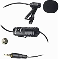XM-L Wired Lavalier Microphone With 20 Audio Cable for Canon Digital EOS Rebel SL1, T2i, T3i, T4i, T5i, T6i, T6s, EOS 60D, EOS 70D, 50D, 40D, 30D, EOS 5D, EOS 5Ds, EOS 5D Mark III, EOS 6D, EOS 7D, EOS 7D Mark II, EOS-M Digital SLR Cameras