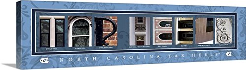 Gallery-Wrapped Canvas entitled Tar Heels - University of North Carolina Campus Letters by Campus Letter Art 60