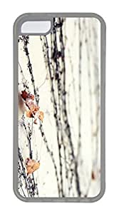iPhone 5C Case, Customized Protective Soft TPU Clear Case for iphone 5C - Vine02 Cover