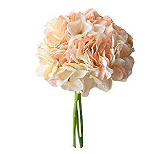Elevin(TM) Artificial Silk Fake Flowers Peony Floral Wedding Bouquet Bridal Hydrangea Decor 57