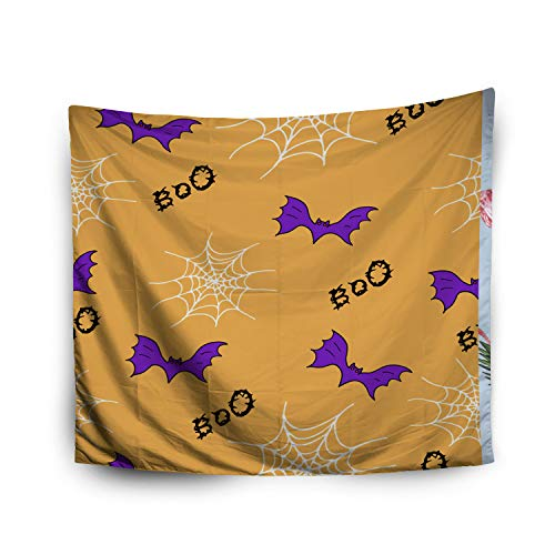 Pamime Home Decor Tapestry for Halloween Bat Web Halloween Wallpaper Simplified Retro Cartoon Wall Tapestry Hanging Tapestries for Dorm Room Bedroom Living Room (50x60 Inches(130x150cm) -