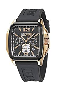 Just Cavalli R7271173525 - Reloj de caballero de cuarzo, correa de silicona color negro