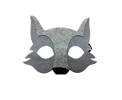 OUCHI Children's Halloween Cute Cartoon Mask For Masquare Cosplay Party Wolf