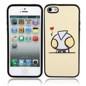 Beige Extraterrestrial Pattern Protective TPU Hard Case for iPhone 5/5S