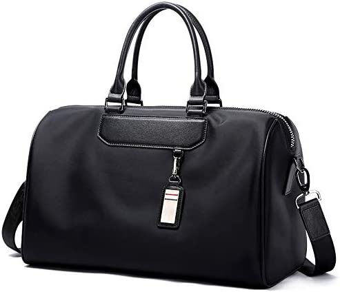紳士ハンドバッグ メンズファッションミニマルオックスフォード布トラベルバッグ上で一晩バッグ防水荷物ジムスポーツショルダーバッグクロスボディバッグキャリー 便利で多用途 (色 : Black, Size : 44x22x27cm)