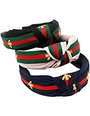 Wide Striped Hair Hoops Headbands for women Bee Animal Cloth Wrapped Head Wrap Women's Hair Accessories