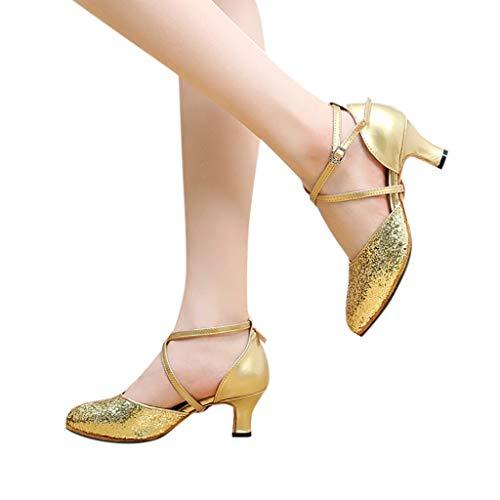 5 Anti Tacco 7cm Standard 5cm Ballo Da Principessa Paillettes amp;bambina Sala Eleganti Baotou Oro Scivolo Scarpe Latino Donna Sandali Serie zUqCRp