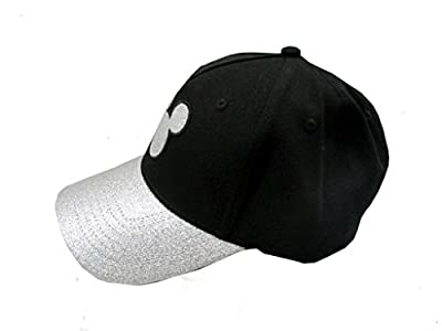 Disney Adult Mickey Mouse Silver Glitter Cap Black by GiftsNBeyond