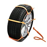 MeiBoAll 10 PCS Protable Emergency Traction Aid Anti-Slip Chain Go Cleated Tire Traction Snow Ice Mud Universal Car SUV Van Truck