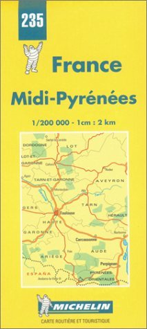 Price comparison product image Michelin Midi-Pyrenees,  France Map No. 235 (Michelin Maps & Atlases) by Michelin Travel Publications (1999-07-01)