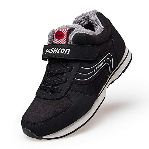 Old Black Mother Women Middle Shoes Plush Plus Warm And Winter Hair Shoes Father sho Cotton casual Aged 46pYaw4q