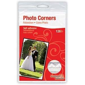 3L Scrapbook Adhesives Self-Adhesive Creative Paper Photo Corners, White, 108-Pack