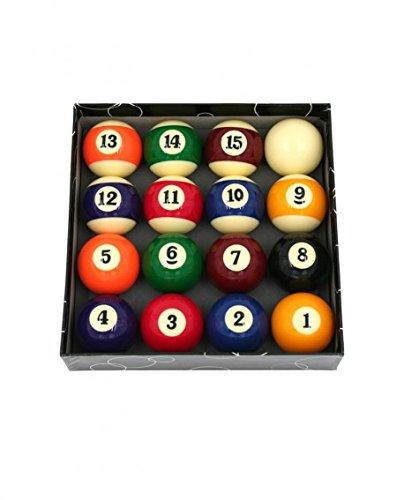CAAA - Juego de bolas de billar, 52,4 mm, para billar americano 4mm
