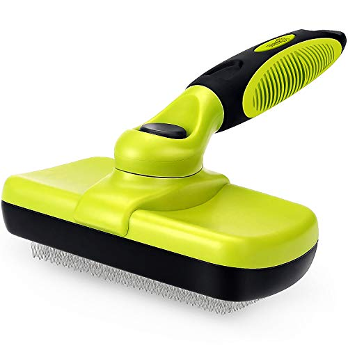🥇 Pecute Dog Brush Cat Brush – Self Cleaning Slicker Brush