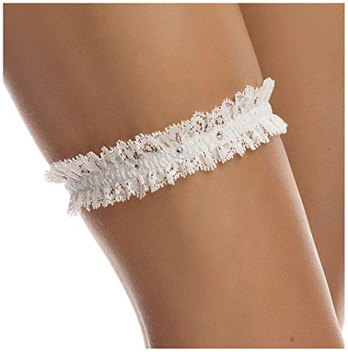 SLIM Bridal Wedding Lace Garter - Elegant Garter - Must Have for Brides - IVORY