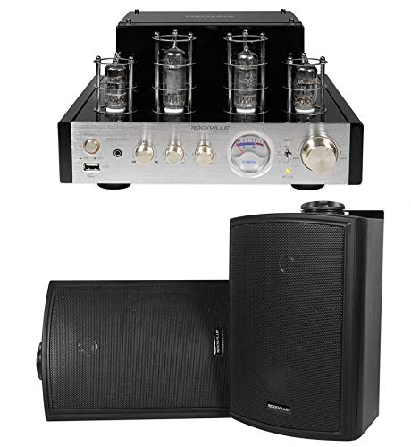 Rockville BluTube Tube Amplifier/Home Theater Bluetooth Receiver+ 5.25″ Speakers